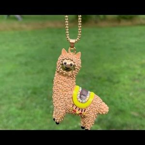 BETSEY JOHNSON~ Adorable LLAMA Necklace